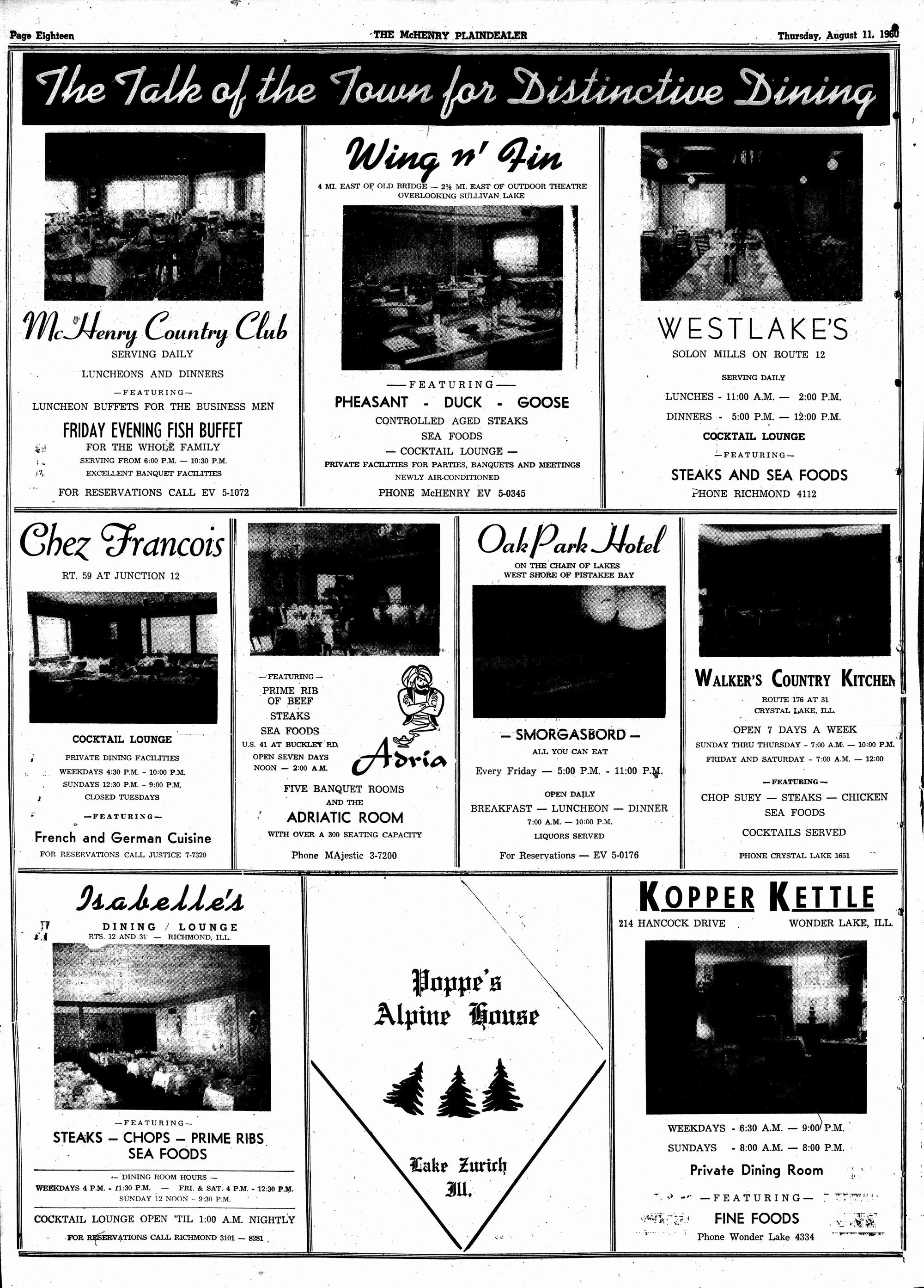 McHenry Plaindealer (McHenry, IL), 11 Aug 1960