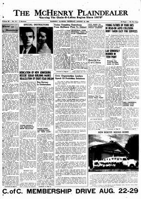McHenry Plaindealer (McHenry, IL), 18 Aug 1960