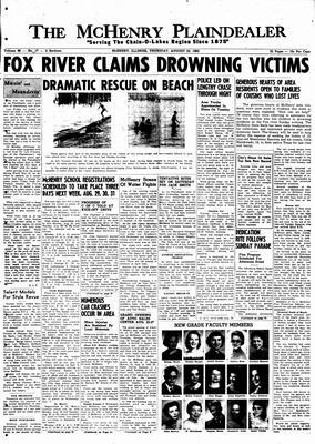 McHenry Plaindealer (McHenry, IL), 25 Aug 1960