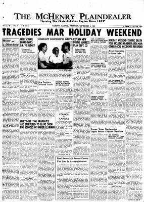 McHenry Plaindealer (McHenry, IL), 8 Sep 1960