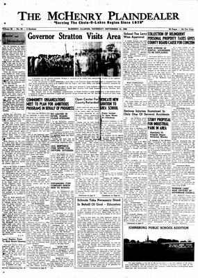 McHenry Plaindealer (McHenry, IL), 15 Sep 1960