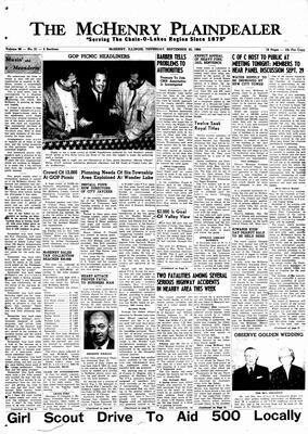 McHenry Plaindealer (McHenry, IL), 22 Sep 1960