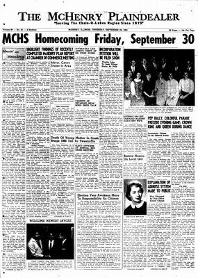 McHenry Plaindealer (McHenry, IL), 29 Sep 1960