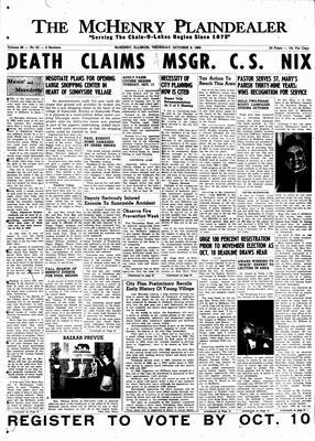 McHenry Plaindealer (McHenry, IL), 6 Oct 1960