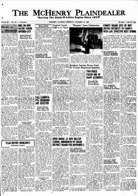 McHenry Plaindealer (McHenry, IL), 13 Oct 1960