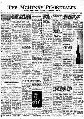 McHenry Plaindealer (McHenry, IL), 20 Oct 1960