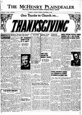 McHenry Plaindealer (McHenry, IL), 22 Nov 1960