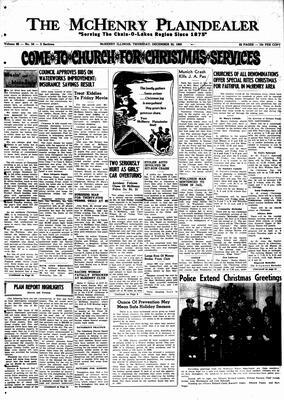 McHenry Plaindealer (McHenry, IL), 22 Dec 1960