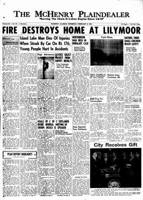 McHenry Plaindealer (McHenry, IL), 3 Feb 1961