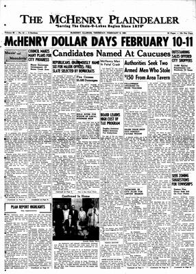 McHenry Plaindealer (McHenry, IL), 9 Feb 1961