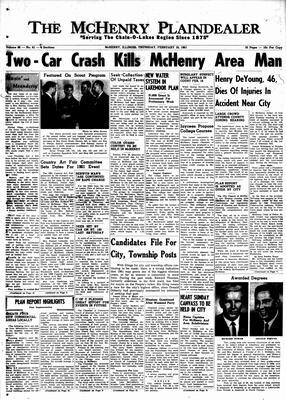 McHenry Plaindealer (McHenry, IL), 16 Feb 1961