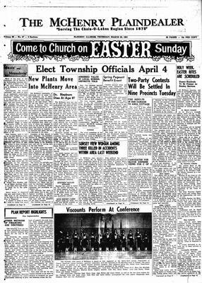McHenry Plaindealer (McHenry, IL), 30 Mar 1961
