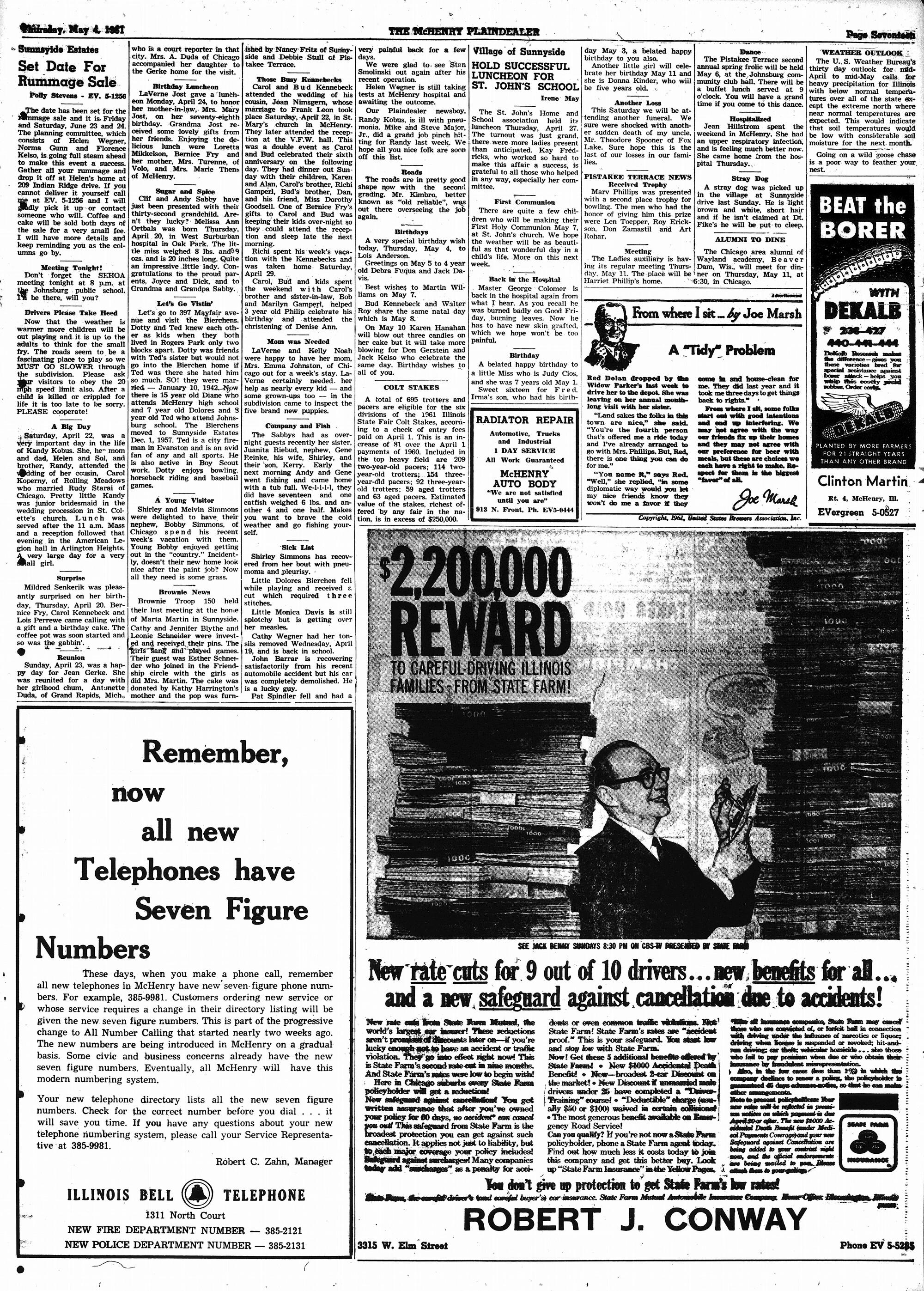 McHenry Plaindealer (McHenry, IL), 4 May 1961