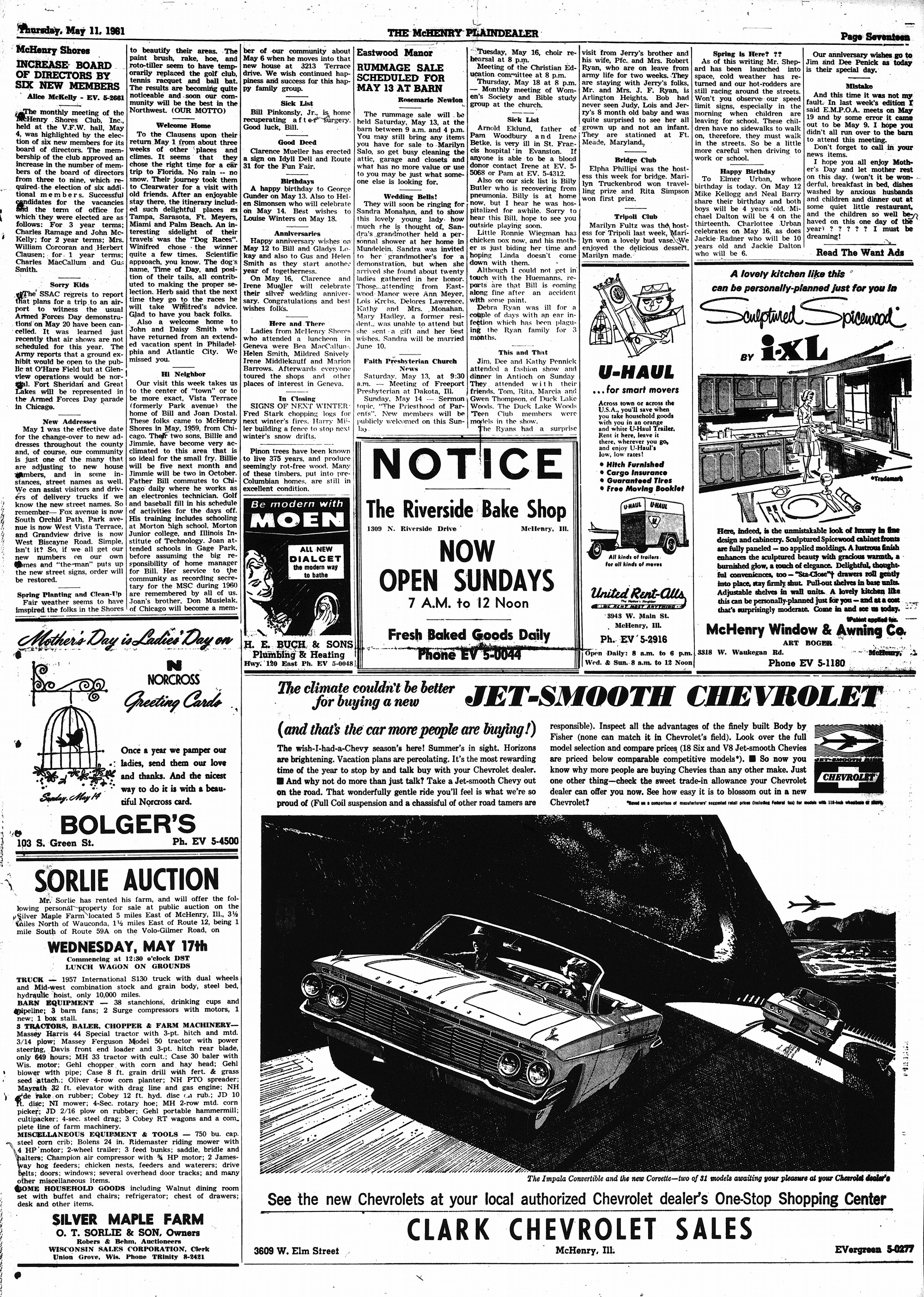 McHenry Plaindealer (McHenry, IL), 11 May 1961