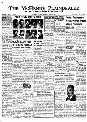 McHenry Plaindealer (McHenry, IL), 29 Jun 1961