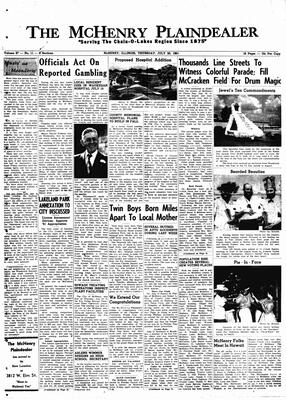 McHenry Plaindealer (McHenry, IL), 20 Jul 1961
