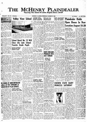 McHenry Plaindealer (McHenry, IL), 17 Aug 1961