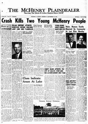 McHenry Plaindealer (McHenry, IL), 14 Sep 1961