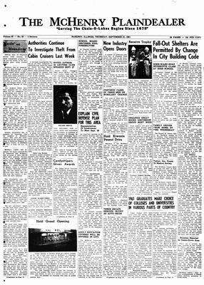 McHenry Plaindealer (McHenry, IL), 21 Sep 1961