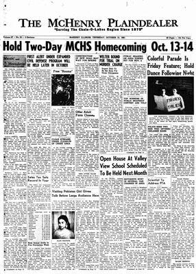 McHenry Plaindealer (McHenry, IL), 12 Oct 1961