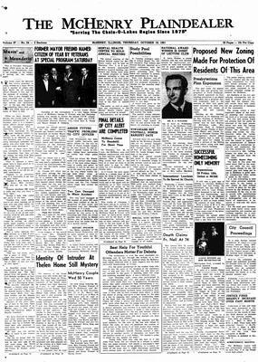 McHenry Plaindealer (McHenry, IL), 19 Oct 1961