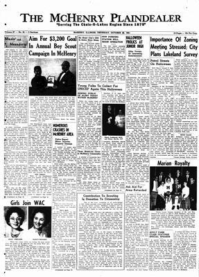 McHenry Plaindealer (McHenry, IL), 26 Oct 1961