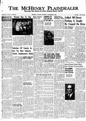 McHenry Plaindealer (McHenry, IL), 9 Nov 1961