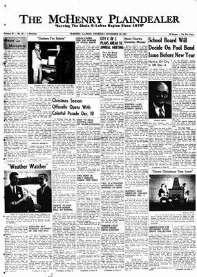 McHenry Plaindealer (McHenry, IL), 30 Nov 1961