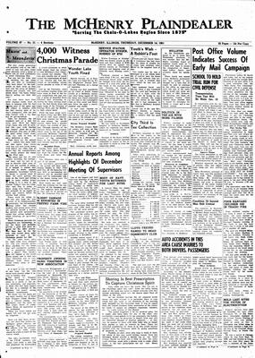 McHenry Plaindealer (McHenry, IL), 14 Dec 1961