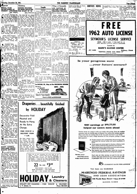 McHenry Plaindealer (McHenry, IL), 28 Dec 1961