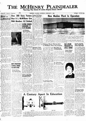 McHenry Plaindealer (McHenry, IL), 1 Feb 1962