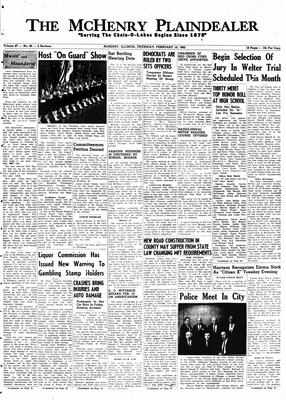McHenry Plaindealer (McHenry, IL), 15 Feb 1962