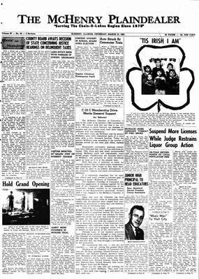 McHenry Plaindealer (McHenry, IL), 15 Mar 1962