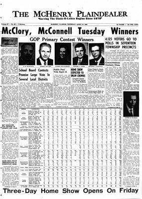 McHenry Plaindealer (McHenry, IL), 12 Apr 1962