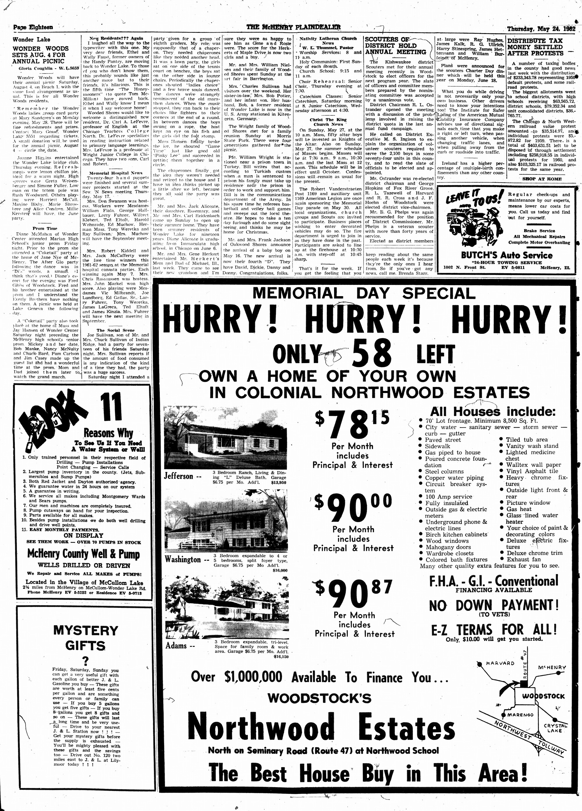 McHenry Plaindealer (McHenry, IL), 24 May 1962