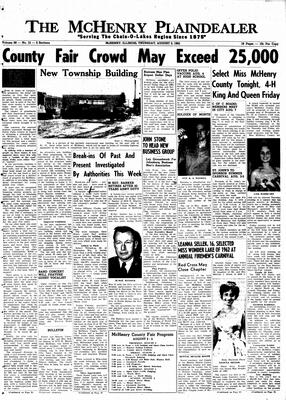 McHenry Plaindealer (McHenry, IL), 2 Aug 1962