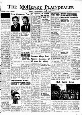 McHenry Plaindealer (McHenry, IL), 16 Aug 1962