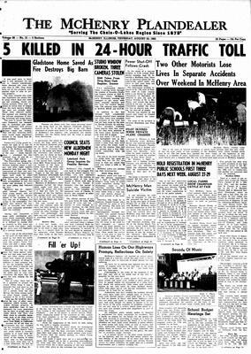 McHenry Plaindealer (McHenry, IL), 23 Aug 1962