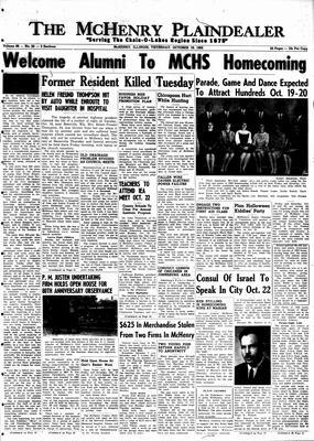 McHenry Plaindealer (McHenry, IL), 18 Oct 1962