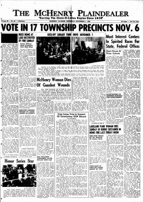 McHenry Plaindealer (McHenry, IL), 1 Nov 1962