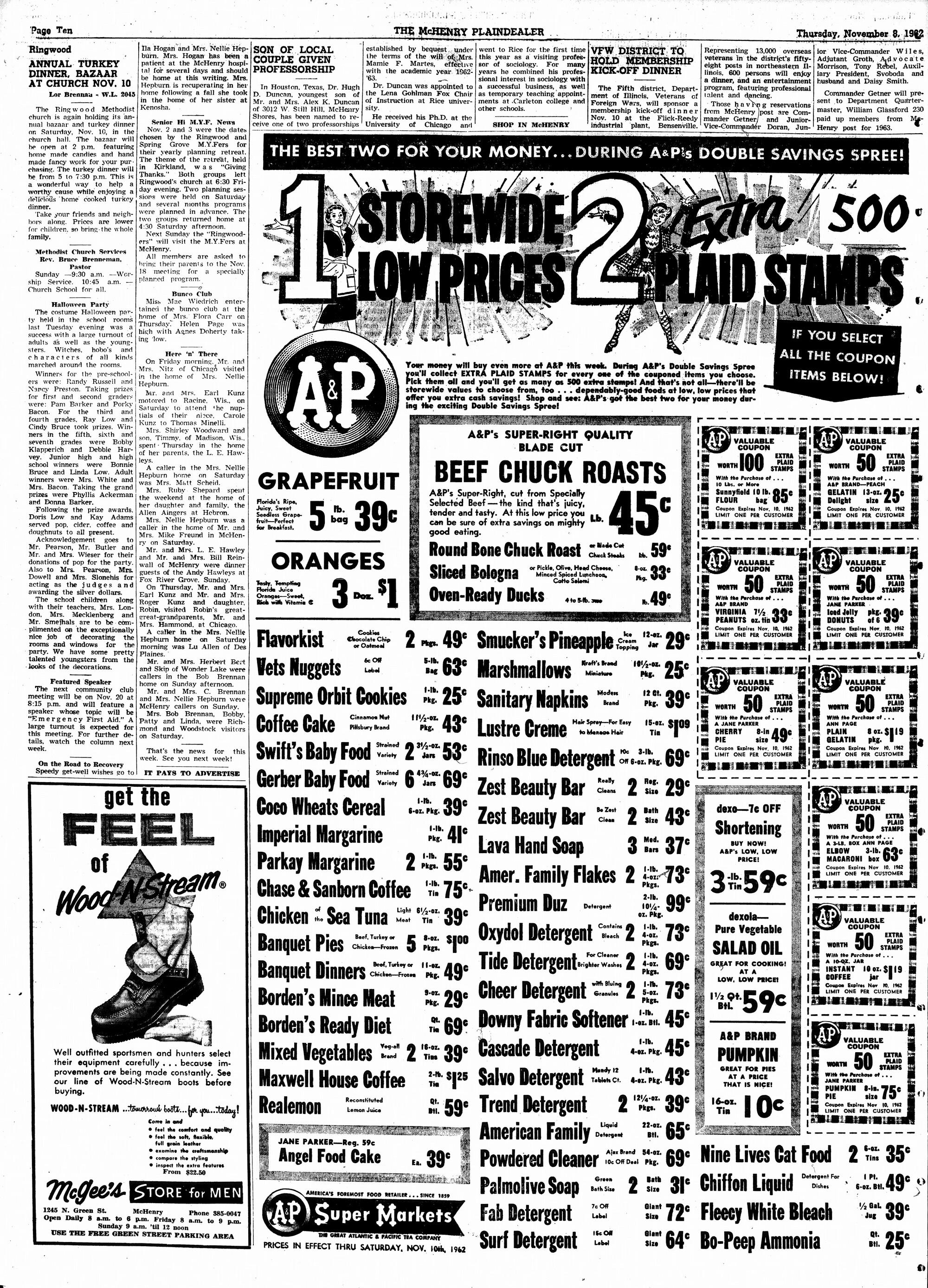 McHenry Plaindealer (McHenry, IL), 8 Nov 1962
