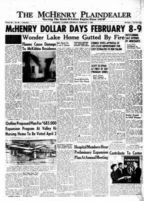McHenry Plaindealer (McHenry, IL), 7 Feb 1963