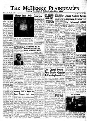 McHenry Plaindealer (McHenry, IL), 21 Feb 1963