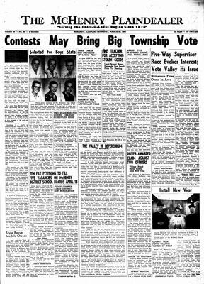 McHenry Plaindealer (McHenry, IL), 28 Mar 1963