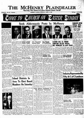 McHenry Plaindealer (McHenry, IL), 11 Apr 1963