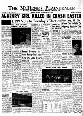 McHenry Plaindealer (McHenry, IL), 18 Apr 1963