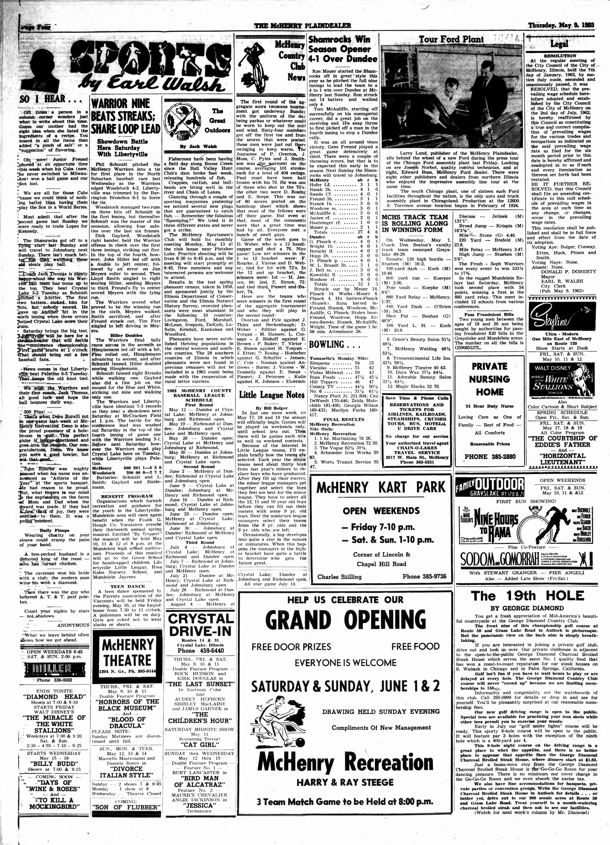 McHenry Plaindealer (McHenry, IL), 9 May 1963