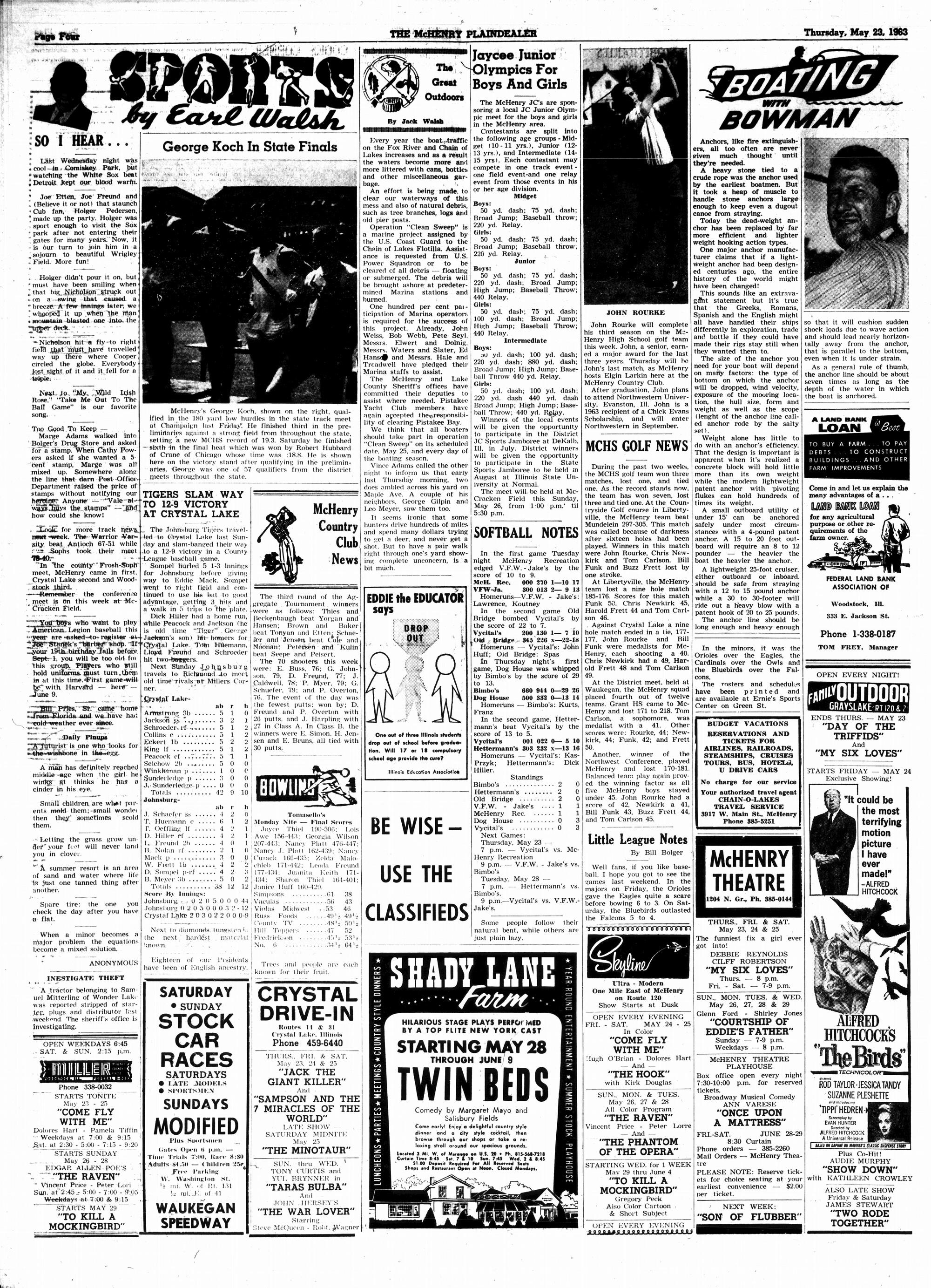McHenry Plaindealer (McHenry, IL), 23 May 1963