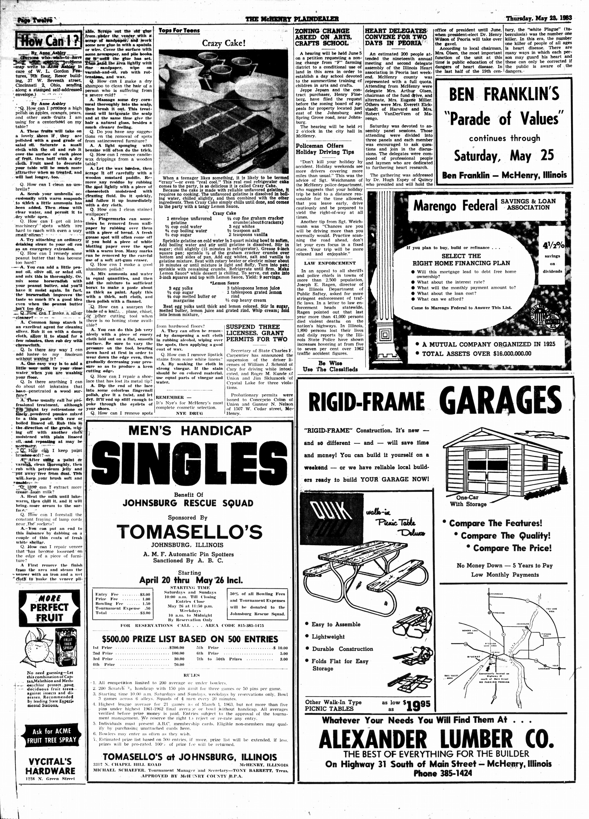 McHenry Plaindealer (McHenry, IL), 23 May 1963