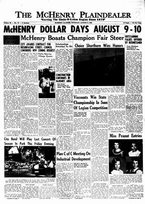 McHenry Plaindealer (McHenry, IL), 8 Aug 1963
